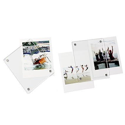 Clover acrílico transparente refrigerador - Marco de fotos magnético ...