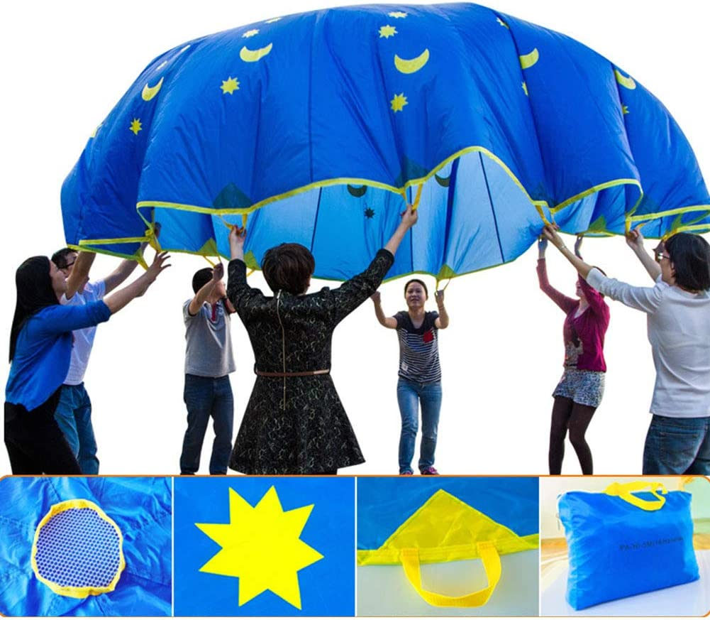 Bnineteenteam Kids Parachute,6 Feet Parachute Toys with 8 Handles for Kids Play Outdoor Games Kids Games