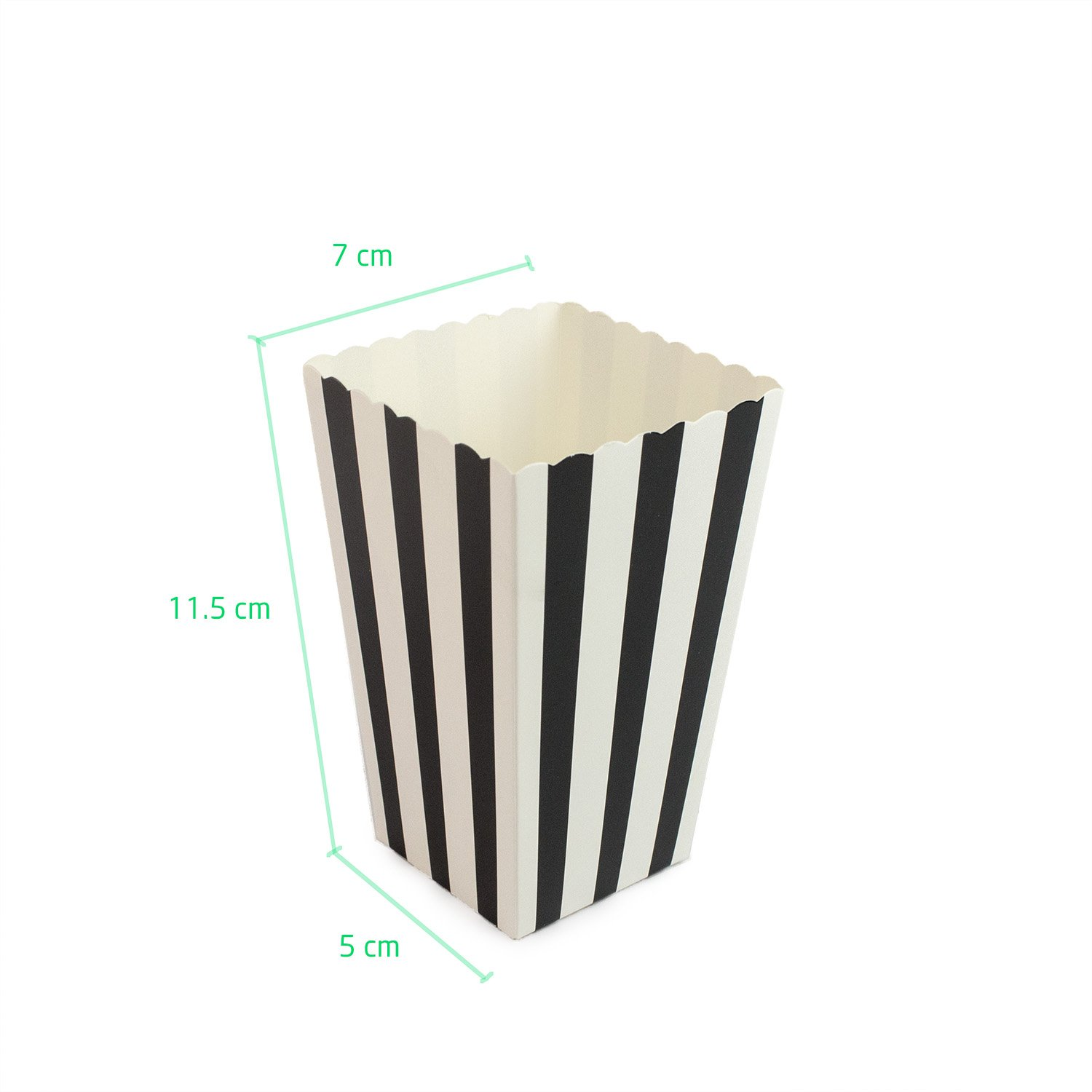 48pcs Popcorn Boxes Gold and Black Chevron Striped Birthday Parties,Carnival Party,Baby Showers,Movie Theater Polka Dot Paper Candy Container for Weddings