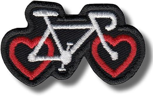 Parche Bordado con diseño de corazón de Bicicleta (6 x 3 cm ...