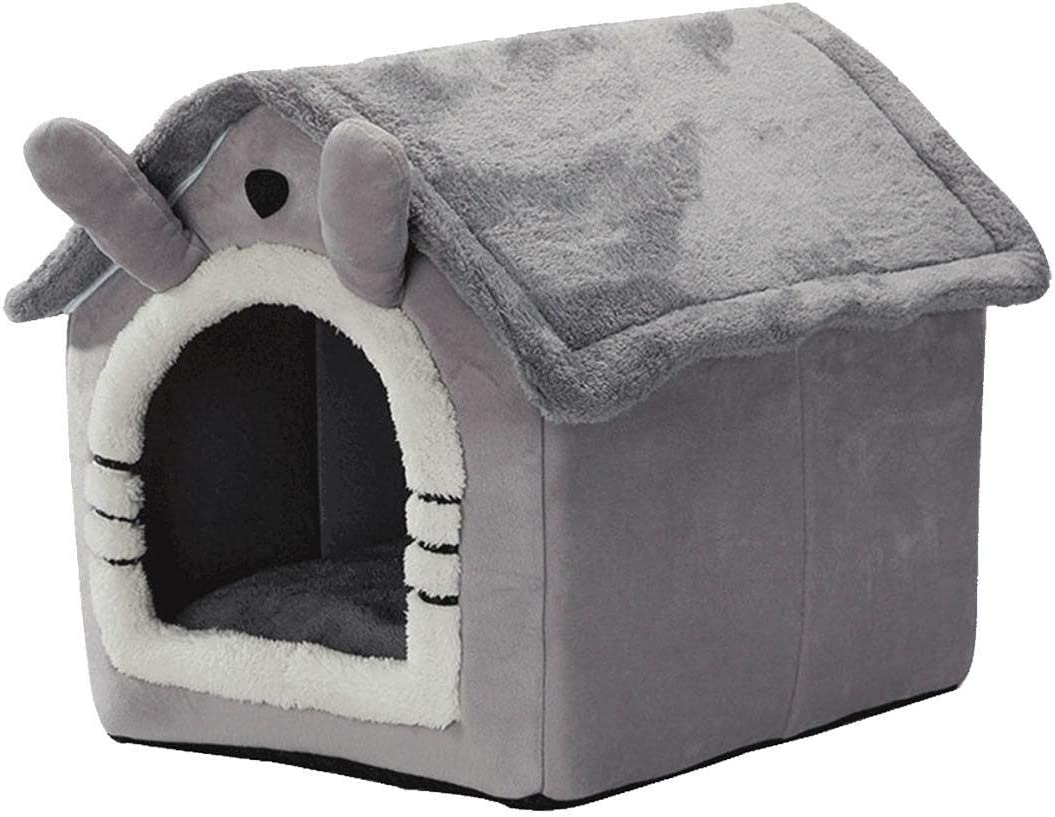 Caseta para gato, caseta para perro, gato, con cojín extraíble, cesta para gato, caseta para gato, color gris