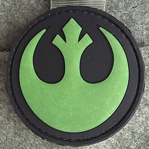 Rebel Alliance Emblem Star Wars Morale Patch (Glow In The Dark) - PVC Morale Patch, Velcro Morale Patch, Star Wars Rebel Alliance Emblem By NEO Tactical Gear (Ps2 Chess)