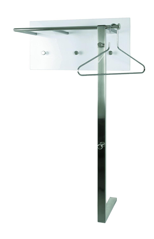 Verzauberkunst Wandgarderobe Paneel Galerie Von Haku Stahl Verchromt, In Hochglanz Weiß, 42359: