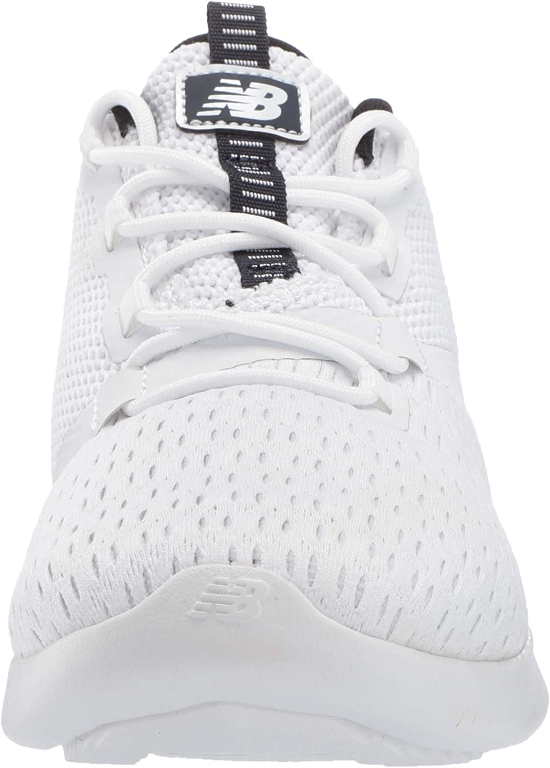 New Balance Men s District Run V1 Cush Sneaker, white, 7 Medium US