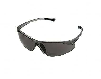 98e90df8ab4 Image Unavailable. Image not available for. Color  Gray Scratch-Resistant  Bifocal Safety Reading Glasses ...