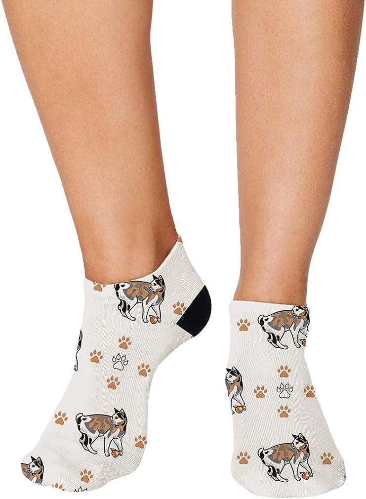 Japanese Bobtail Cat Paws Pattern #1 Men-Women Adult Ankle Socks
