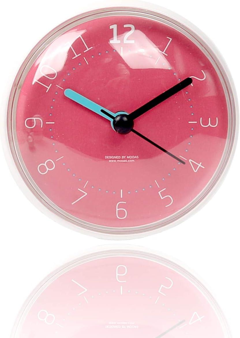 Amazon Com Mooas Macaron Waterproof Clock Bathroom Clock Shower Clock Wall Clock Pink Home Kitchen