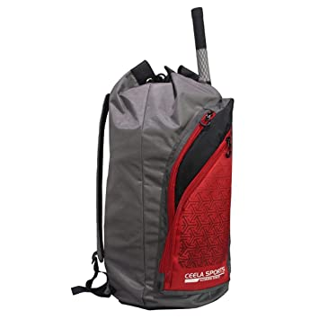 c49b25e622ab Image Unavailable. Image not available for. Color  C2C Sports Cricket  Duffle Bag Red Grey 100% Original ...