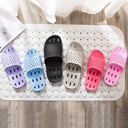 Purple Light Pool Women Slippers Qiucdzi Sandals and Men Slip Indoor Shoes Non Bath Shower Breathable House Summer 4qywaZp1