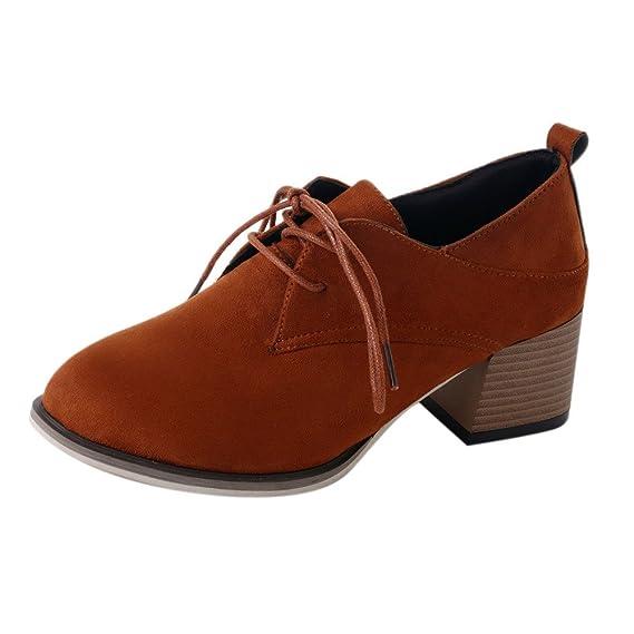 ❤ Botines de Mujer con Cordones, otoño Invierno Plataforma Tacones Mujer Botines Suave y Gruesa Plataforma de tacón Alto Botas Botas Zapatos Absolute: ...