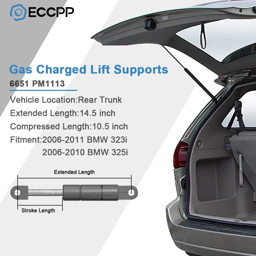 ECCPP Lift Support Rear Trunk Replacement Struts Gas Springs Fit for BMW 323i BMW 325i BMW 325xi BMW 328i 328i xDrive 328xi BMW 330i 330xi BMW 335d BMW 335i BMW 335i xDrive BMW 335xi BMW M3 Set of 2
