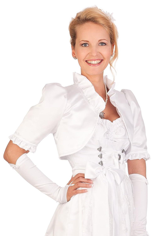 Damen Trachten Bolero - HOCHZEIT - weiß