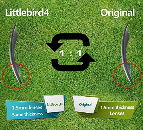 Littlebird4 2 Pairs 1.5mm Polarized Replacement Lenses for Oakley Crosshair Sunglasses - Multiple Options (Silver+Fire Red) by Littlebird4 (Image #5)