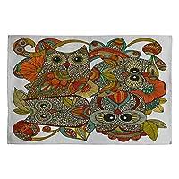 DENY Designs Valentina Ramos 4 Owls Woven Rug, 2 x 3