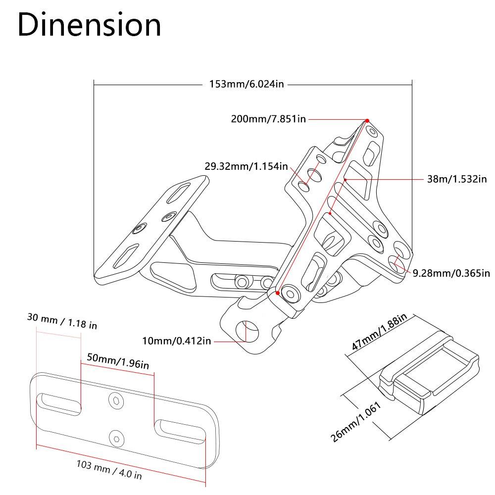 Motorbike Accessories Universal Registration Plate Holder Fender Wiring Diagram Bmw S1000rr Ducati Multistrada 1200 Eliminator License Bracket Ho Tidy Tail With Lamp For Kawasaki Z900 Z800 Z750