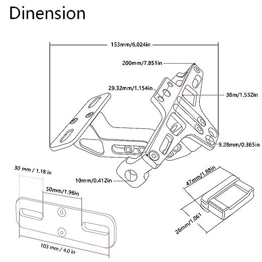 Motorbike Accessories Universal Registration Plate Holder Fender