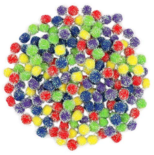 Fibre Crafts 1 Inch Iridescent Poms - 180 Count