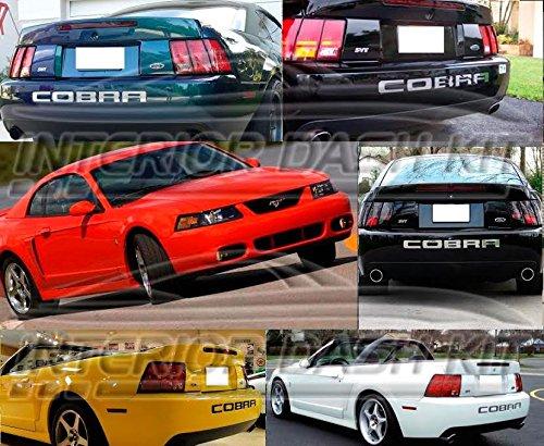 Ford MUSTANG COBRA CHROME EXTERIOR REAR BUMPER INSERTS LETTERS EMBLEM 2002 2003 2004 (Rear Cobra Bumper)