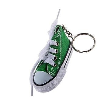 Desconocido Juguetes Juegos Colgantes Llaveros Forma Zapato Lona Moda - Verde