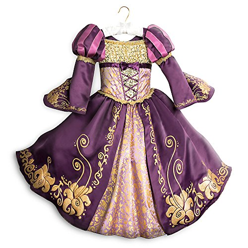 Disney Rapunzel Deluxe Costume for Kids Size 7/8 Purple -