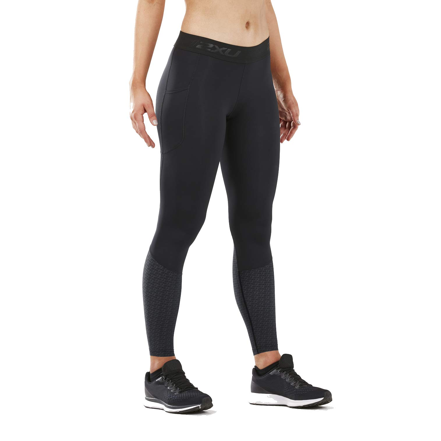 2XU Women's Accelerate Compression Tight Storage (Medium, Outer Space)