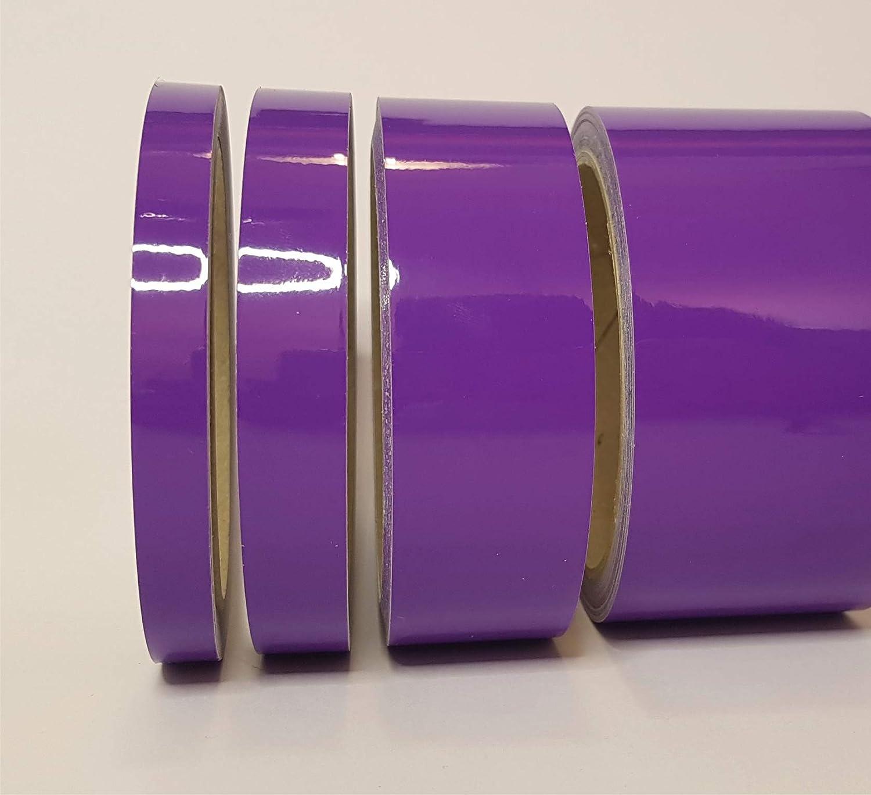 Siviwonder Zierstreifen lila in 20 mm Breite und 10 m L/änge Folie Aufkleber f/ür Auto Boot Jetski Modellbau Klebeband Dekorstreifen violett Flieder