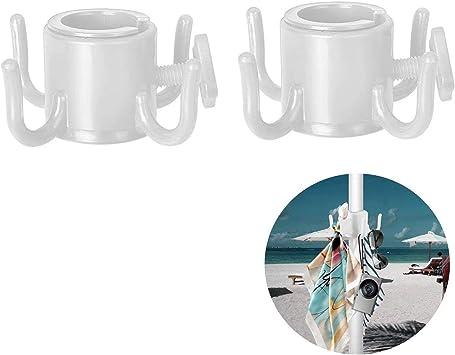 TAGVO Gancho para Colgar de sombrilla de Playa 2pcs 4-Pines Gancho de Paraguas de pl/ástico Colgar Toallas//Sombreros//Ropa//c/ámara//Gafas de Sol//Bolsas Durable