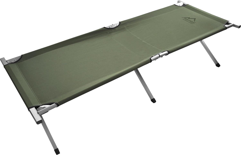 Normani - Camilla militar plegable (aluminio, 195 cm) verde verde oliva: Amazon.es: Deportes y aire libre