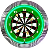 Neonetics Darts Neon Wall Clock, 15-Inch
