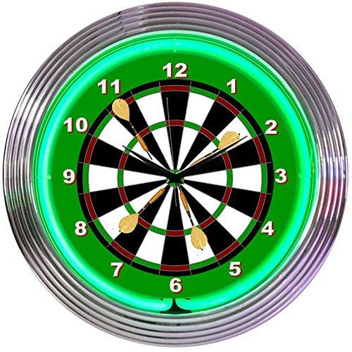 Neonetics Darts Neon Wall Clock, 15-Inch