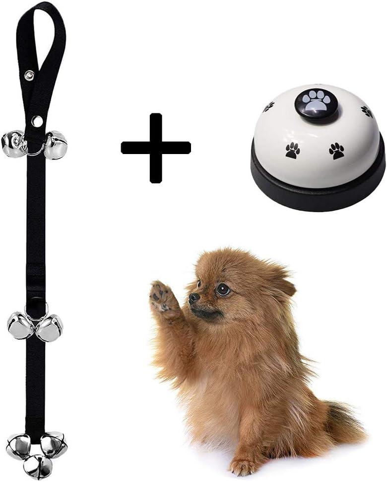 Eine Person, die benutzt Glocken für Hunde