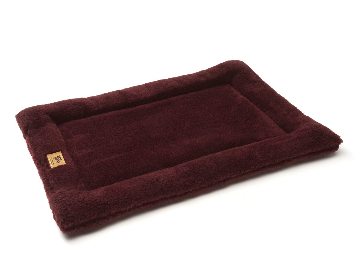 West Paw Design Montana Nap with IntelliLoft Fiber and Fill Durable Lightweight Mat for Dogs and Cats, Made in USA, Wine, Large