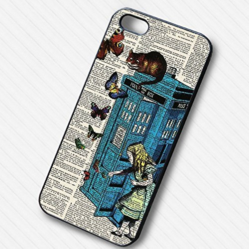 Alice in Wonderland Cheshire Police Box - swd pour Coque Iphone 6 et Coque Iphone 6s Case L8G9YP