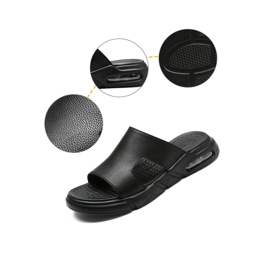 YQQ Oberbekleidung Sandalen Hausschuhe Sommer- Lässige Schuhe Ferienschuhe Trend Herrenschuhe (Farbe Persönlichkeit Mode Gemütlich Rutschfest (Farbe Herrenschuhe : Schwarz, Größe : EU39/UK6.5) Schwarz 9eaa1f