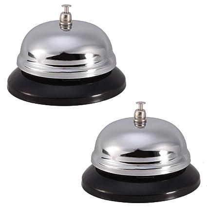 Amazon com: Feeko Call Bell, 2pcs Metal Structure Table
