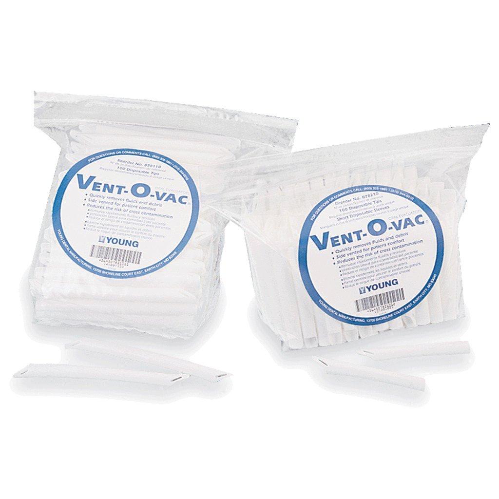 Young Dental 78210 Vent-O-Vac Disposable Tips 3.75'' 100/Pk