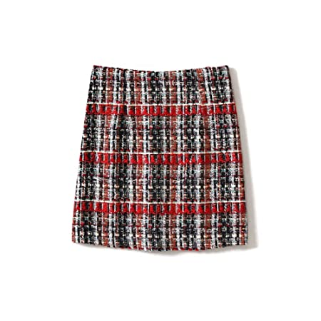 QZBTU Faldas Mujer Falda Mujer Primavera Y Otoño Hilo Rojo Cuerda ...
