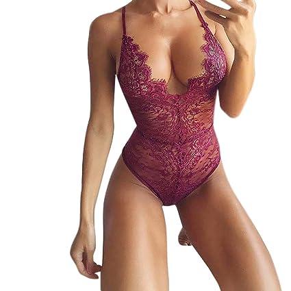 69f7d8742 Amazon.com  Fashion AIMTOPPY Women Lingeries Sexy Corset Lace ...