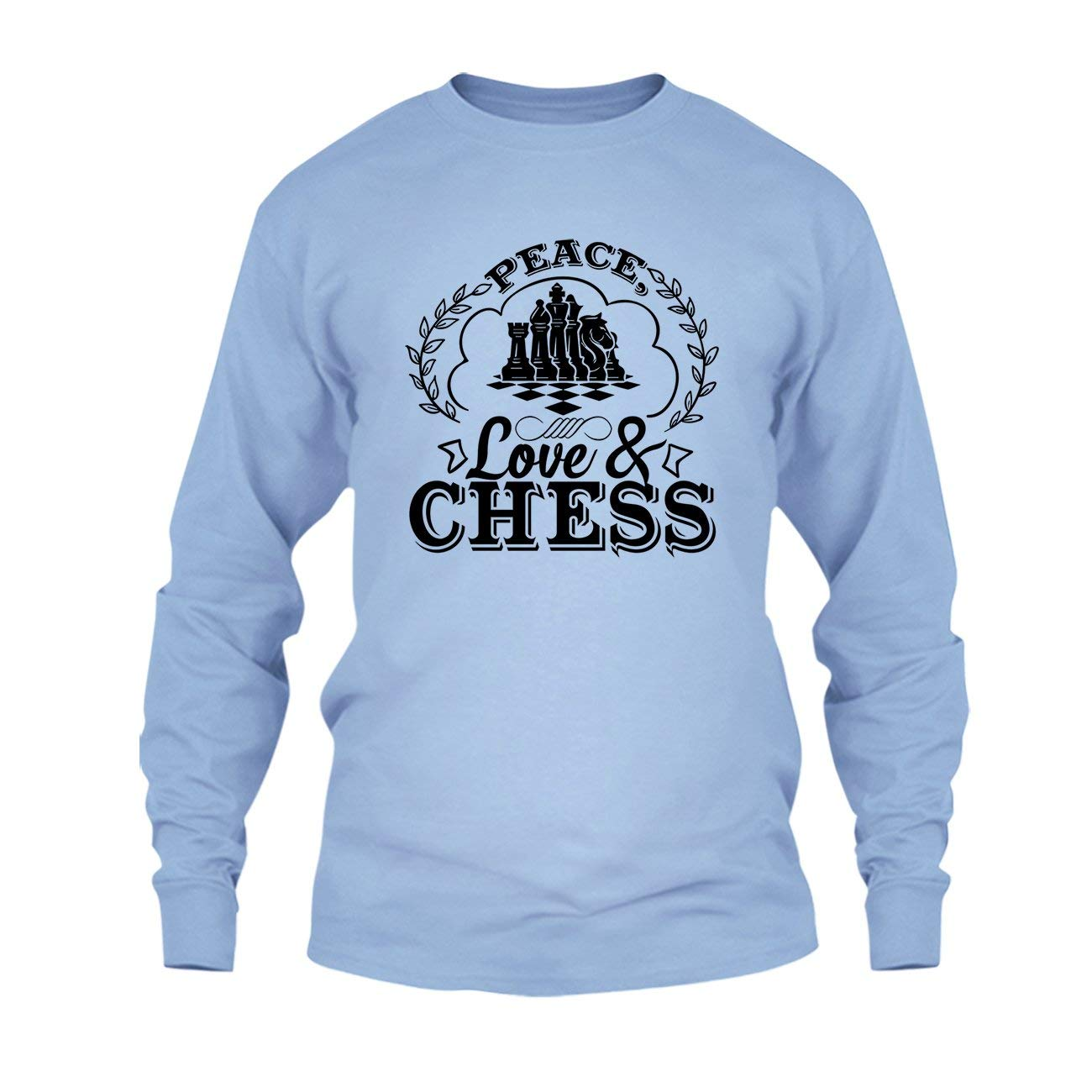 Peace Love And Chess T Shirt Design Long Sleeve Shirt Amazon