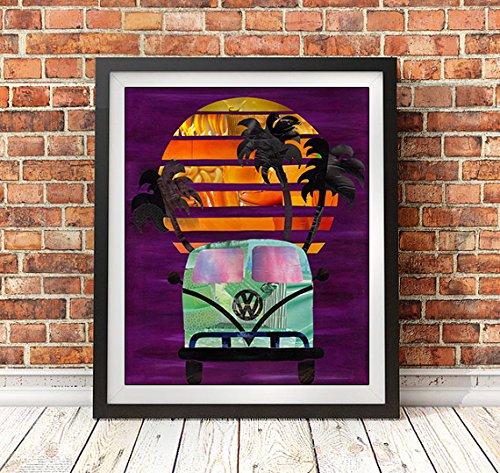 Amazoncom Volkswagen Art Print Available In Sizes 8 X 10 11 X 14