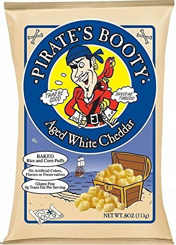 (Pirate's Booty Snack Puffs, Aged White Cheddar, 0.5 Ounce (Pack of 60))