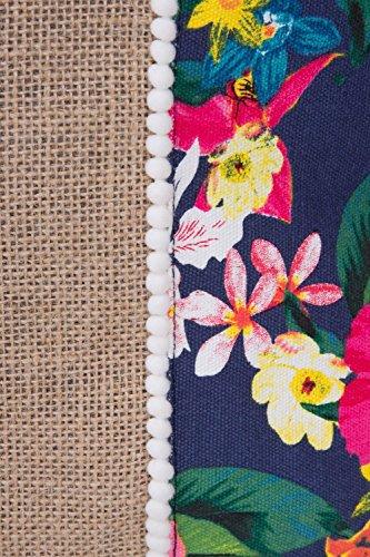 Multi Large Handbag Canvas Beach Womens Bag Navy Tote Floral Ladies Shopper Shoulder vXqZwUqT4