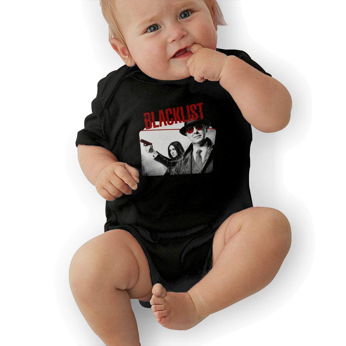 LuckyTagy The Blacklist Season Unisex Classic Newborn Baby Romper Baby GirlVest Black