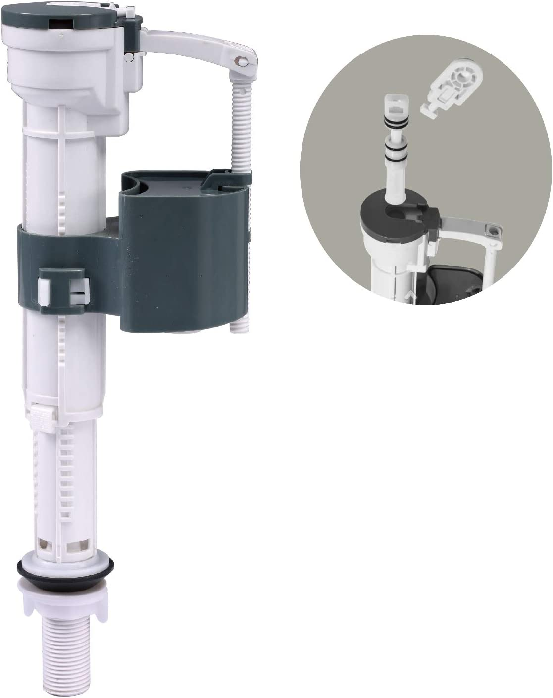 Toilet Fill Valve for Heavy Toilet Tank, Fast Filling & Easy Cleaning Repair Kits, High Performance Replacement Parts, Tall