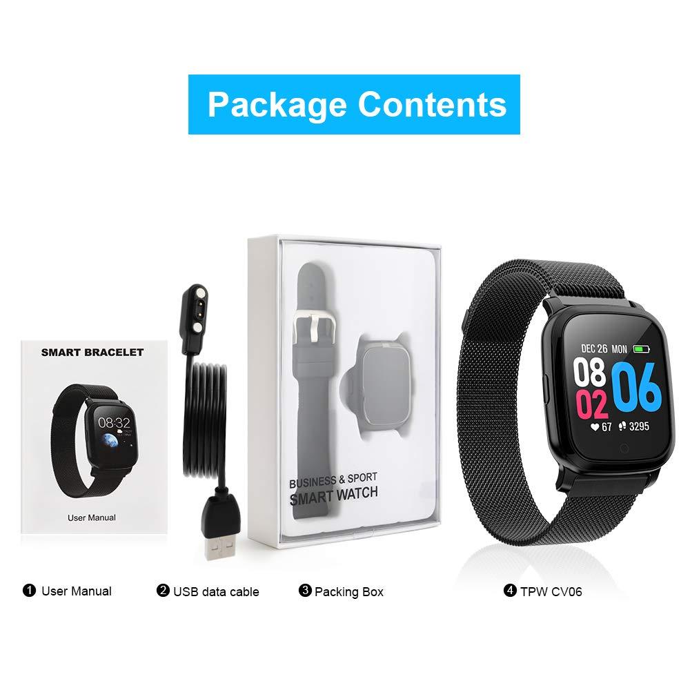 Amazon.com: TPW Reloj Inteligente Bluetooth Reloj Deportivo ...