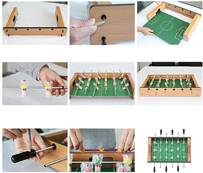 Yingm Table Game Tabletop Portátil De Madera Chándal Futbolín ...