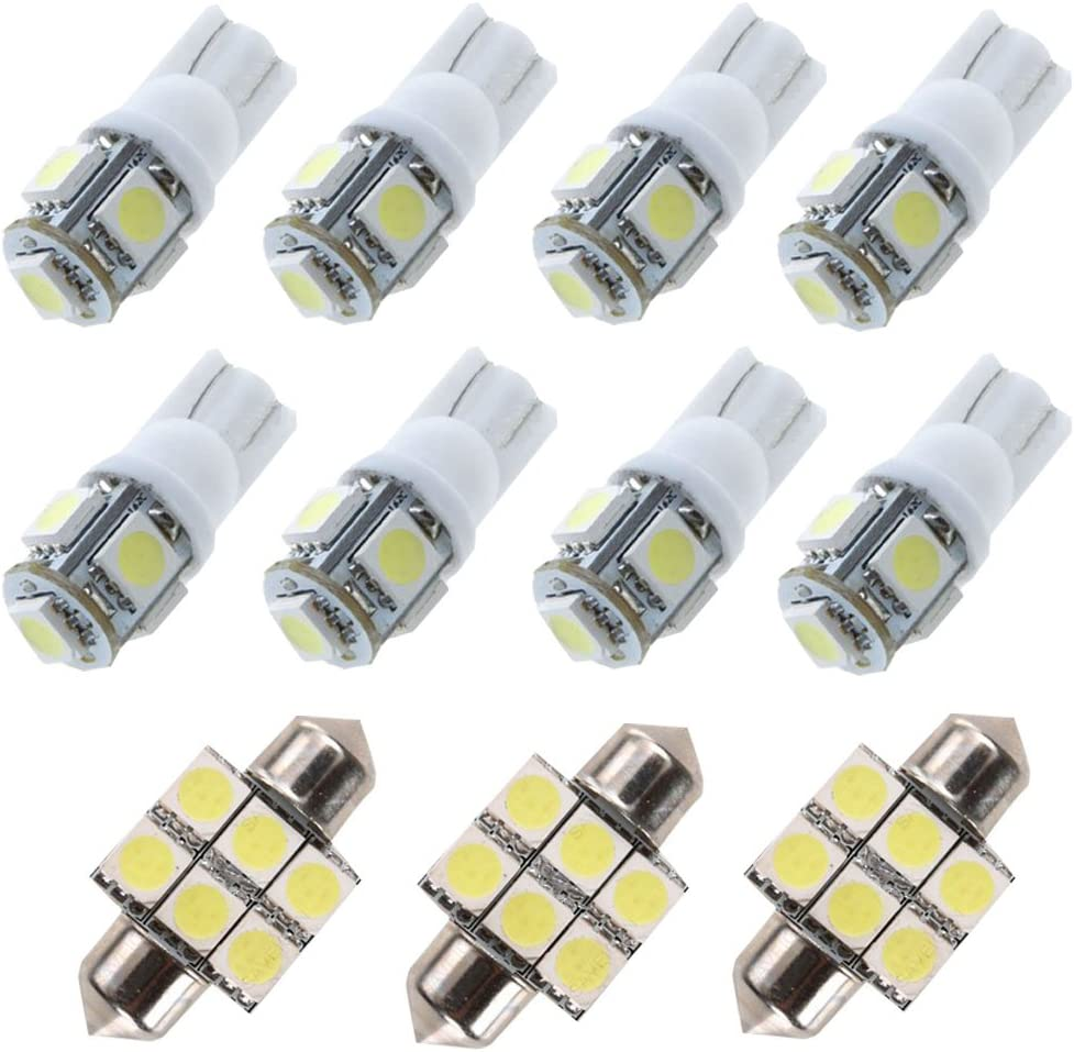 For Toyota Rav4 Led Interior Lights Led Interior Car Lights Bulbs Kit White 2007-2018 12Pcs