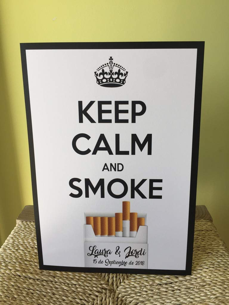 Cartel Cigar Corner. Keep Calm and Smoke: Amazon.es: Handmade