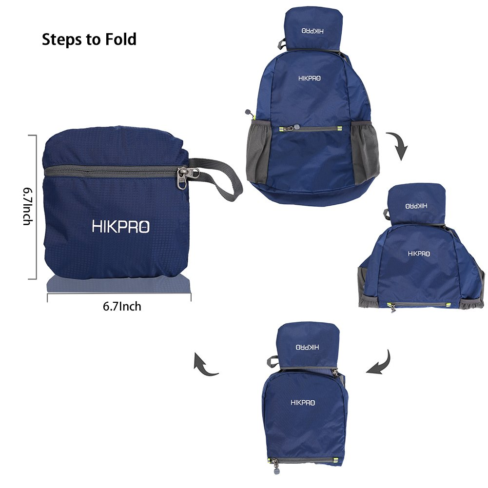 Water Resistant Travel Hiking Daypack for Men /& Women HIKPRO 20L The Most Durable Lightweight Packable Backpack