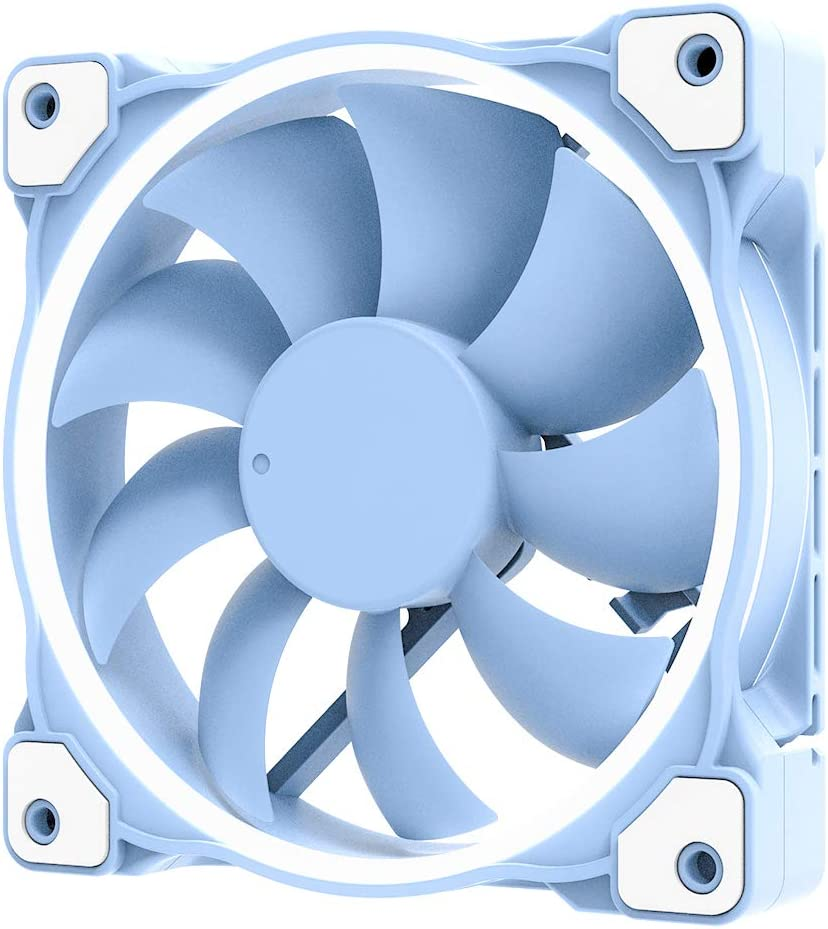 ID-COOLING ZF-12025 Pastel 120mm Case Fan White LED PWM Fan for PC Case/CPU Cooler (Baby Blue)